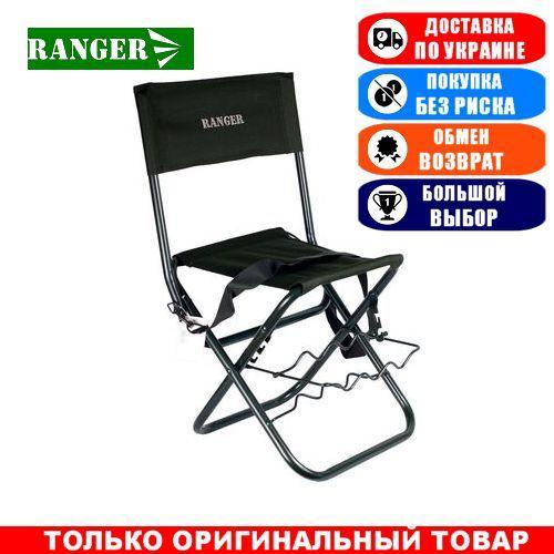Туристический стул складной с подставкой Ranger Rod, тканевый; 69х35х42см. Стул складной Ренжер Rod.