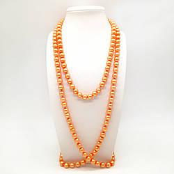 Бусы SONATA из майорки оранжевого  цвета, 63437             (1)