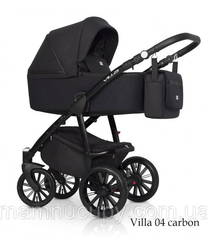 Детская универсальная коляска 2 в 1 Riko Villa 04 Carbon (Рико Вилла)