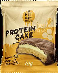 Протеиновое пирожное Fit Kit Медовый Крем (70 грамм)