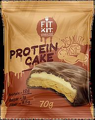 Протеиновое пирожное Fit Kit Арахисовая Паста (70 грамм)
