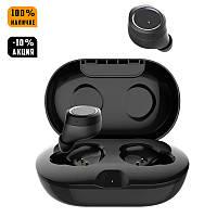 Беспроводные Bluetooth наушники GORSUN GS V7 black красные, бездротові блютуз навушники TWS черные