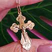 Золотой нательный крестик с распятием, фото 3