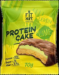 Протеиновое пирожное Fit Kit Лимон-Лайм (70 грамм)