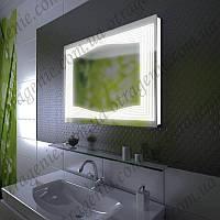 Зеркало с LED подсветкой 10 Вт в ванную 900х700 и выключателем | дзеркало на стіну з підсвіткою і кнопкою