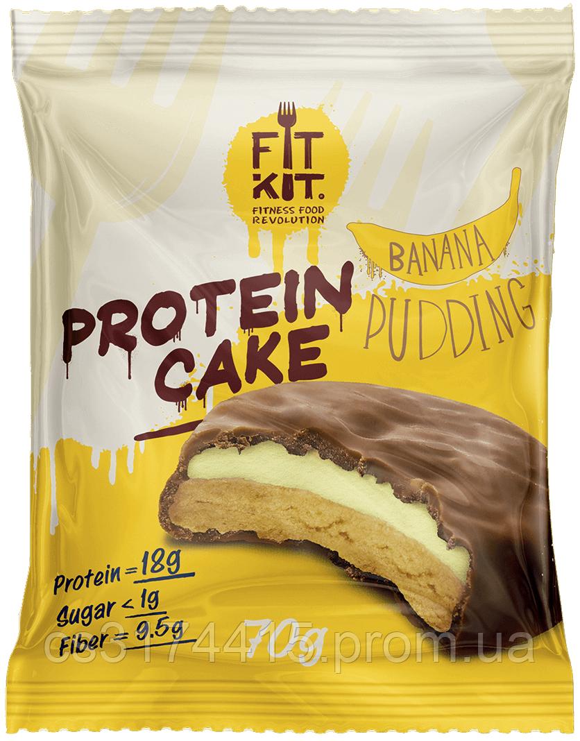 Протеїнове тістечко Fit Kit Банановий Пудинг (70 грам)
