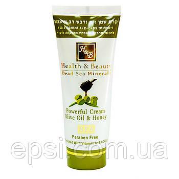 Увлажняющий крем для тела с оливковым маслом и медом HealthBeauty, 100 мл