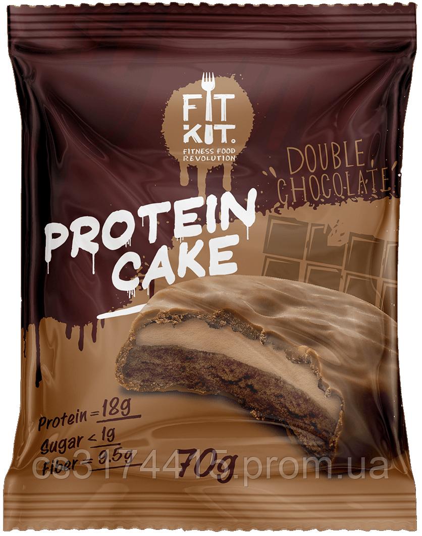 Fit Kit Протеїнове тістечко Подвійний Шоколад (70 грам)