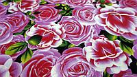 """Ткань хард-софт """"Поляна Роз"""" розовые розы"""