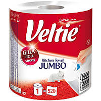 Полотенца бумажные VELTIE Jumbo , 2 слоя 520 отрывов