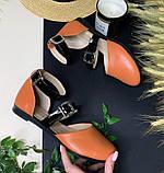 Босоножки женские  с лаковыми ремешками и с перепонками-ремешками на подъеме, фото 3