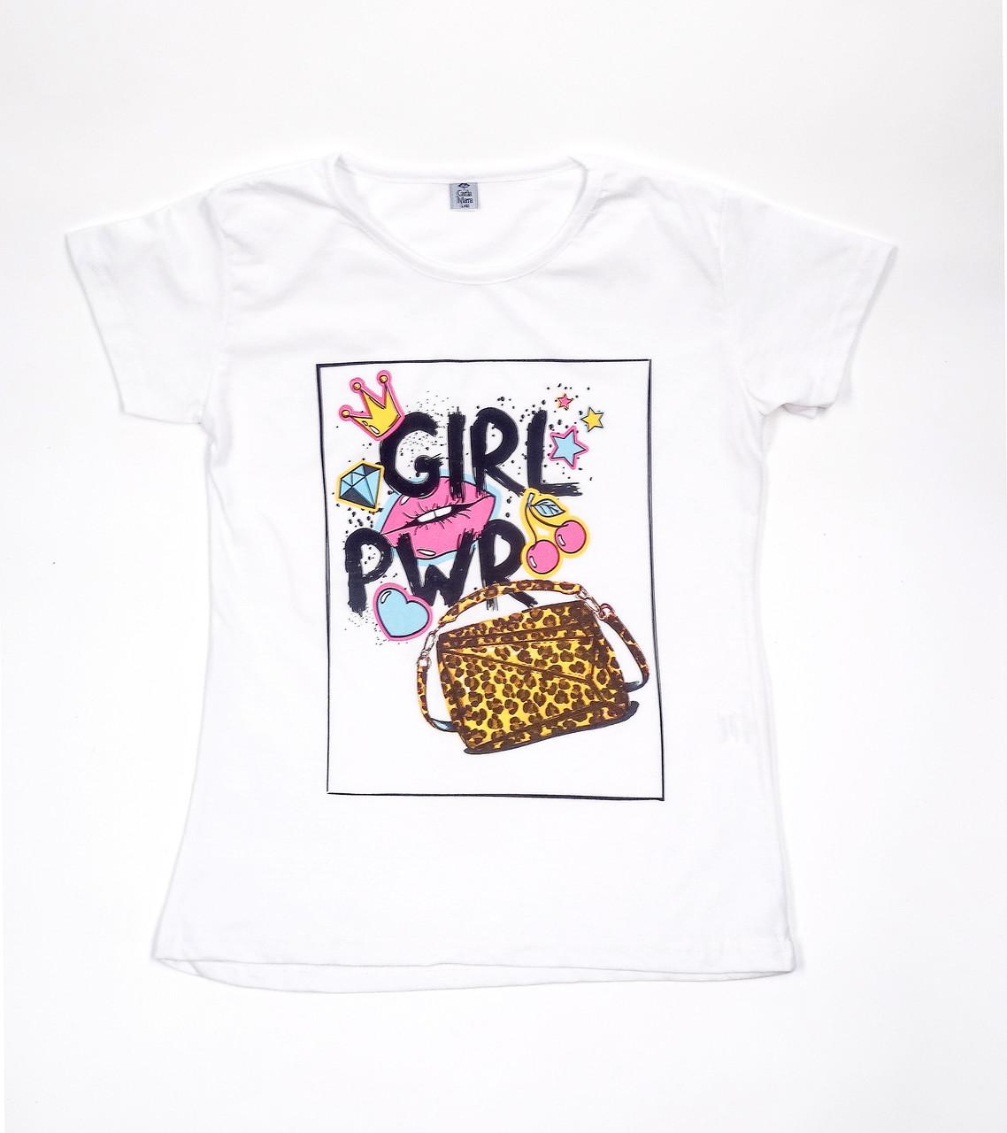 Молодежная футболка с ярким рисунком (44-48)