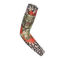 Тату рукав брутальный для байкеров или на праздник «Fire Tiger» (1 шт)