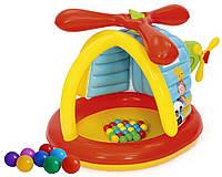 Надувной игровой центр Bestway Вертолет от Fisher Price 93538 с шариками и винтом