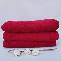 Махровое полотенце сауна Тёмная малина