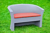 Диван из искусственного ротанга Rodzinka, диван из ротанга, мебель из ротанга, ротанговый диван