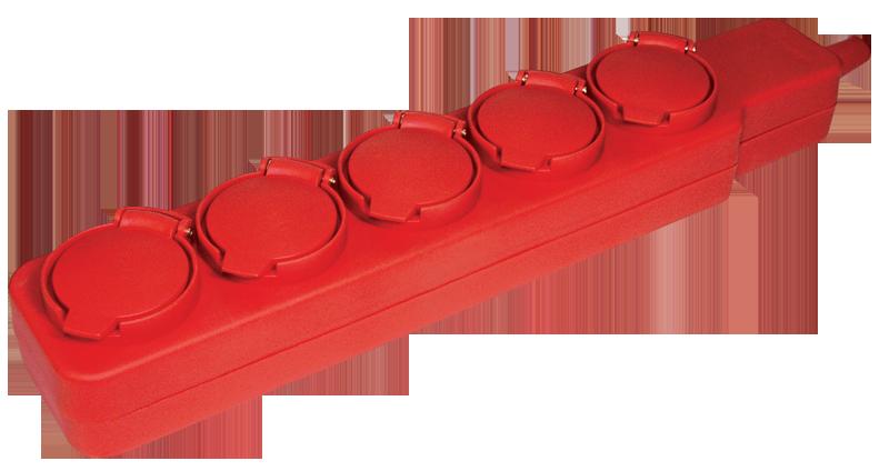 Удлинитель  У05В 5 места с защитными крышками IP44 2Р+PE/5метров  3х1мм2  16А/250В IEK (WYP10-16-05-05-44-N)