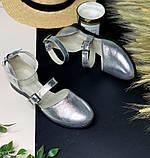 Босоножки женские  с лаковыми ремешками и с перепонками-ремешками на подъеме, фото 2