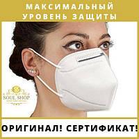 3 шт. Якісна маска-респіратор без клапана, захисний шар N95, п'ятишаровий
