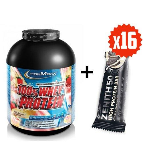 IronMaxx 100 % Whey Protein 2350 g +IronMaxx Батончик Zenith 50 16x45g