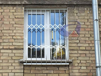 Решетка на окно выпуклая, луковица Шир.990*Выс.1600мм