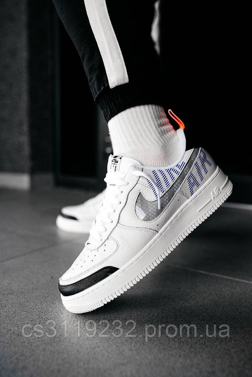 Мужские кроссовки Nike Air Force 1 Low Under Construction White (белые)
