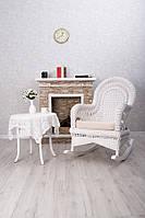 Кресло-качалка с приставным столиком из натурального ротанга Viktoriya, мебель из натурального ротанга