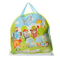 """Палатка для детей с тоннелем """"Животные"""", размер 270-92-92 см, окна-сетки, 3 входа, в сумке, 51-53-5 см."""
