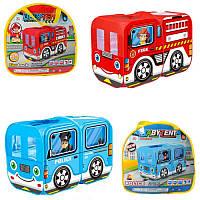 """Палатка для детей """"Автобус"""", размер 128-68-85 см, 1 вход, окна-сетки, 2 вида, в сумке, 33-36-5 см."""
