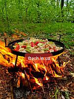 """Сковородка из бороны""""Пикник с друзьями"""" 500мм + крышка, фото 1"""