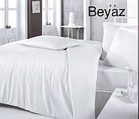 Белоснежный комплект постельного Altinbasak турецкого производства с наволочками 50*70 Сатин