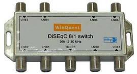 Коммутатор DiSEqC 8x1 WinQuest GD-81A R150762 (SKU777)