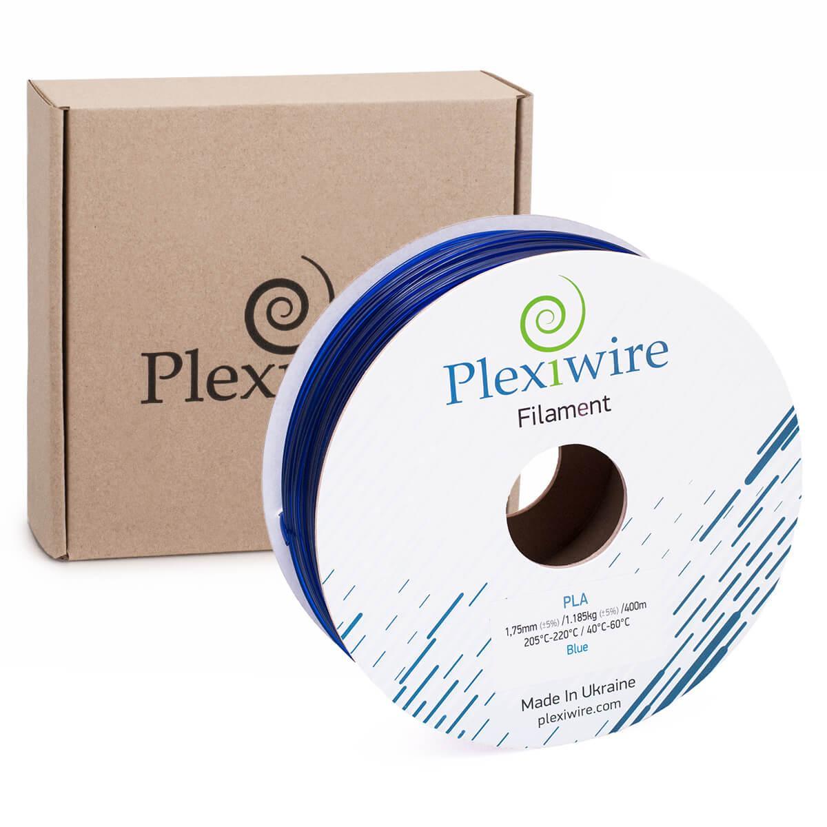 Пластик в котушці PLA 1,75 мм 1,185кг/400м Plexiwire Синій