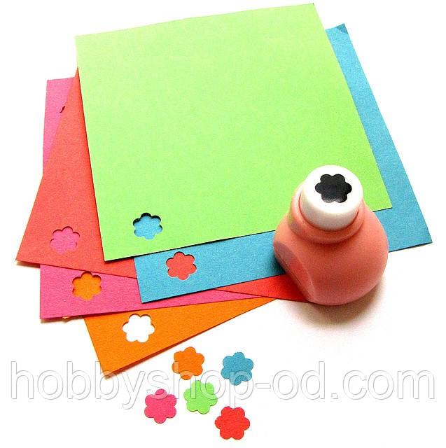 Дырокол Цветочек 6 лепестков 1 см кнопка
