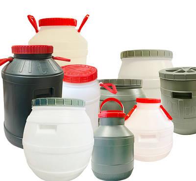 Бочки, бидоны, канистры пищевые пластиковые ТМ Консенсус