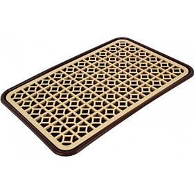 Сушка для посуды Dunya Plastik 10230 бежево-коричневая