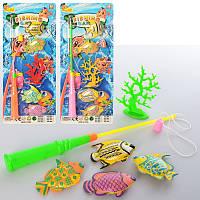 Рыбалка для детей модель 468-568  магнитная, рыбки 4 шт, 6,5 см, 2 вида, микс цветов, на листе.