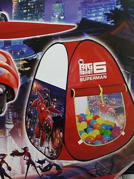 Детская игровая палатка супергерои 106 на 106 на 103