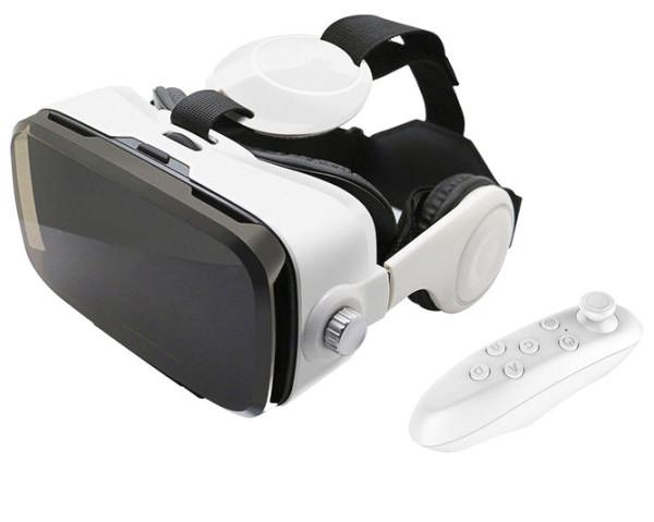 3D окуляри віртуальної реальності для смартфона навушниками і пультом BOBO VR Z4 білий