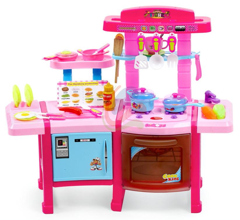 Кухня детская игровая Cook Set с холодильником и духовкой (интерактивная кухня кухня для детей)