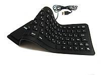 Клавиатура складная силиконовая USB, UKC X3 влагозащищенная, фото 1