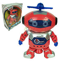 Танцующий светящийся робот Dancing Robot танцор интерактивный детская игрушка музыкальный робот вращение 360