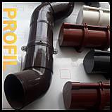 Держатель трубы водосточной Profil 75 / 100 мм Белый, фото 2