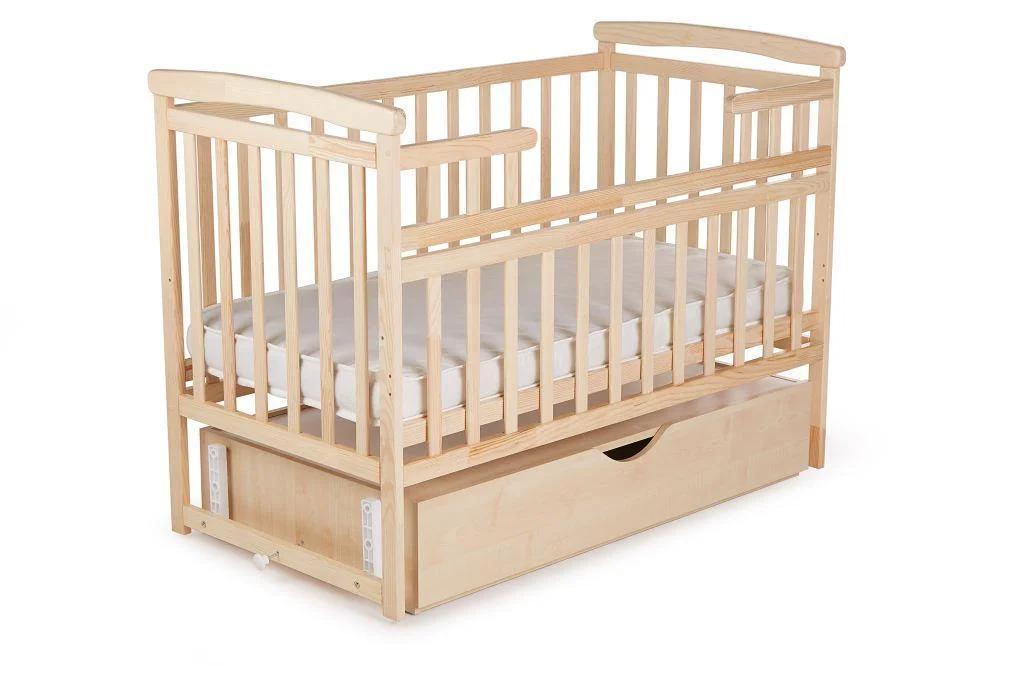 Детская кроватка-трансформер DeSon Лодочка с ящиком Натуральная
