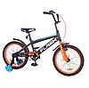 """Двухколесный детский велосипед 18"""" от 5-7 лет TILLY FLASH с учебными колесиками"""
