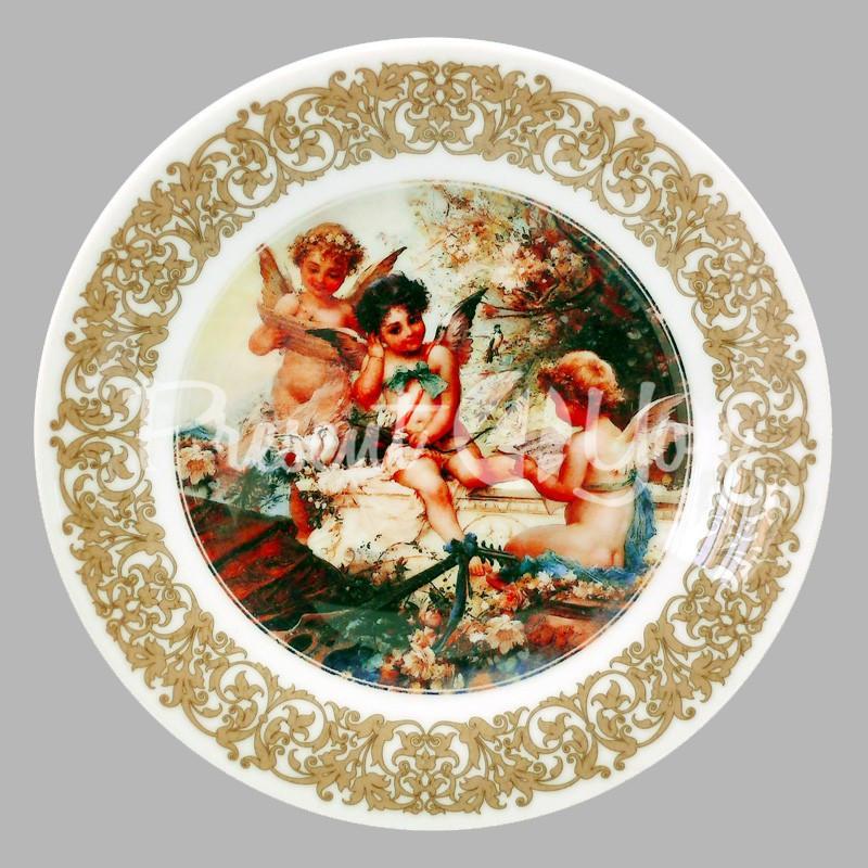 Тарелка декоративная «Купидоны», d-18 см.