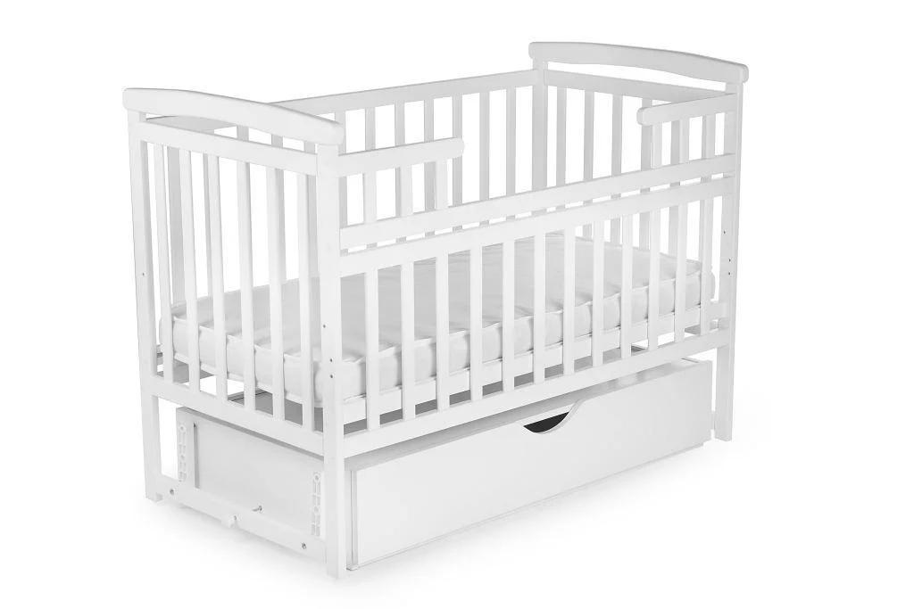 Детская кроватка-трансформер DeSon Лодочка с ящиком Белая