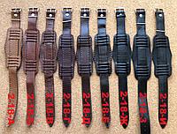 Ремешок-напульсник №2 кожаный 18 мм для часов СССР, фото 1