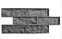 """Полиуретановый штамп """"Колотый кирпич"""" для настенной печати по бетону и штукатурке 502*198 мм"""