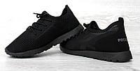 40  РОЗМІР Кросівки чоловічі літні чорного кольору кроссовки